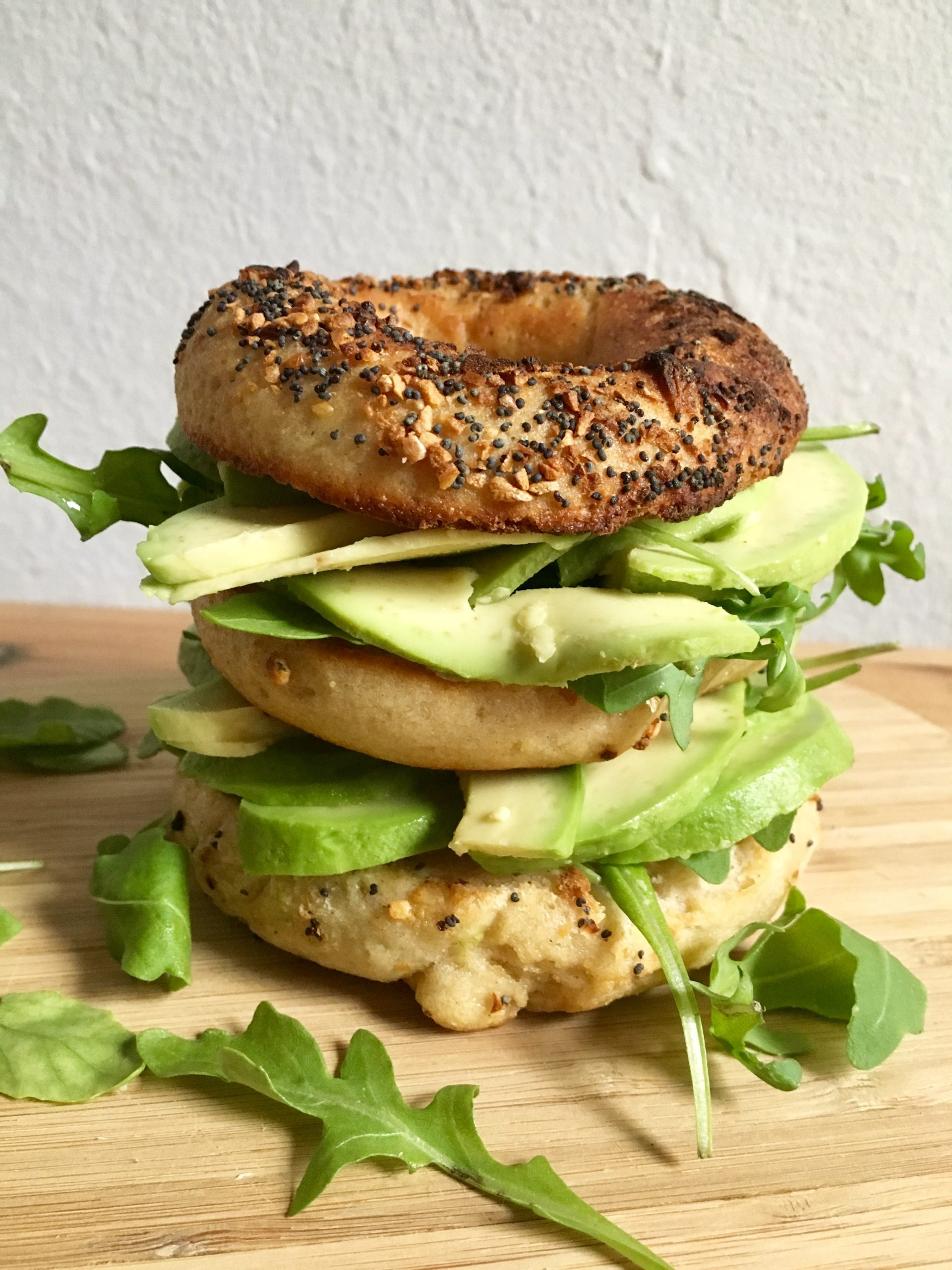 Triple Bagel with Avocado
