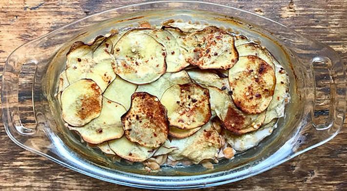 Sweet Potato-Fusilli Casserole