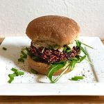 Red Beet Quinoa Burger