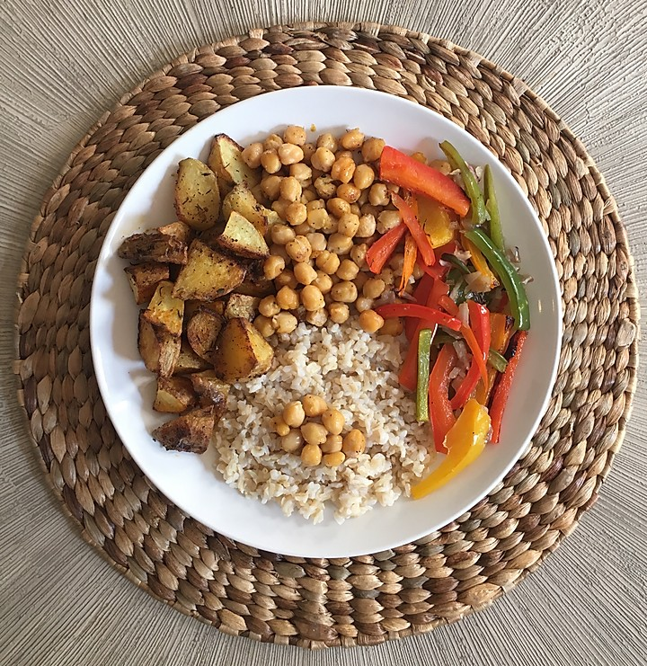 Potato Chickpea Bowl