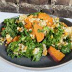 Potato Pearl Couscous Skillet with Kale