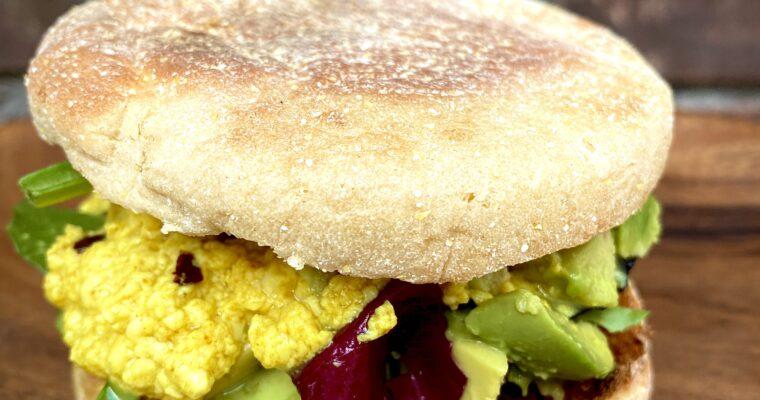 Scrambled Tofu Breakfast Sandwich
