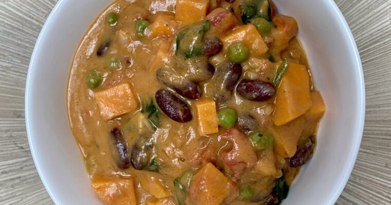 African Peanut Stew with Sweet Potatoes