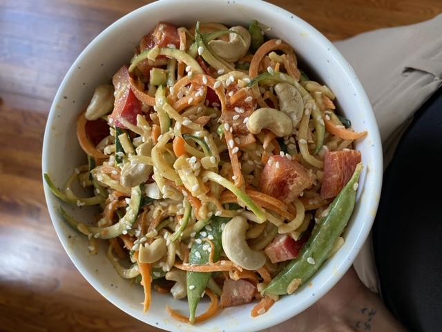 Fresh Zucchini Noodle Bowl